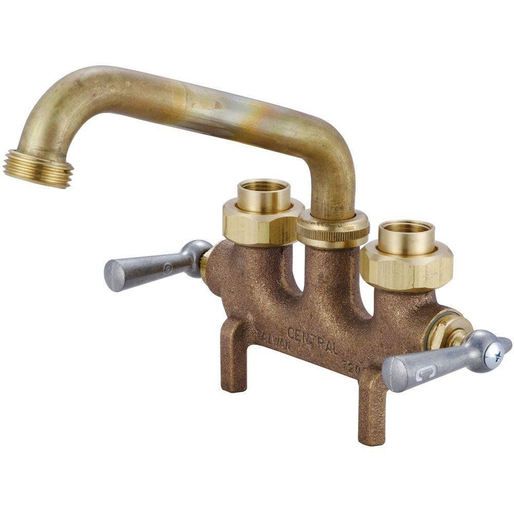 Central Brass 0465 2-Handle Laundry Faucet - Utility Sink Faucets ...