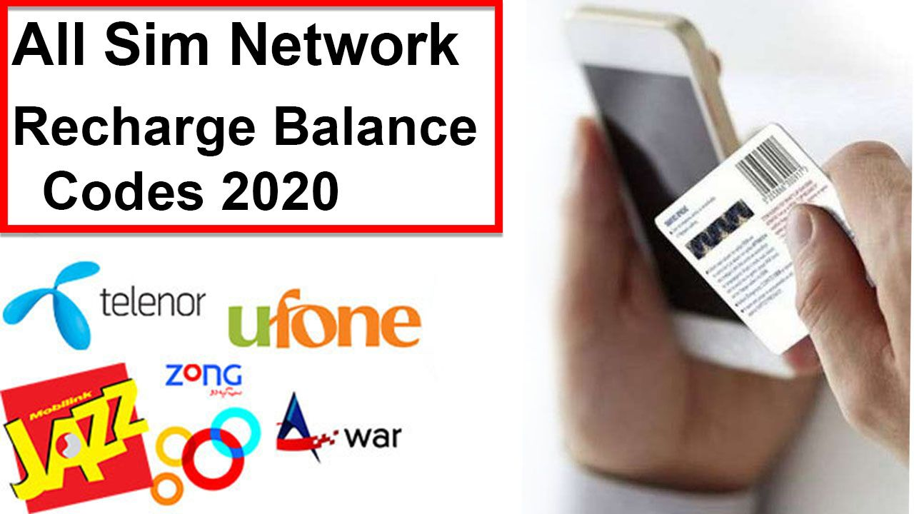 All Network Recharge Balance Codes In 2020 Zong Jazz Ufone