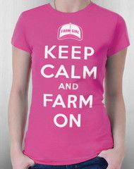 Keep Calm Missy Fitted Tee