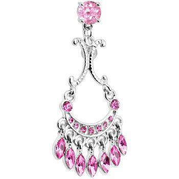 Top mount pink sophia gem chandelier belly ring body jewellery top mount pink sophia gem chandelier belly ring body candy body jewelry bodycandy piercings mozeypictures Images
