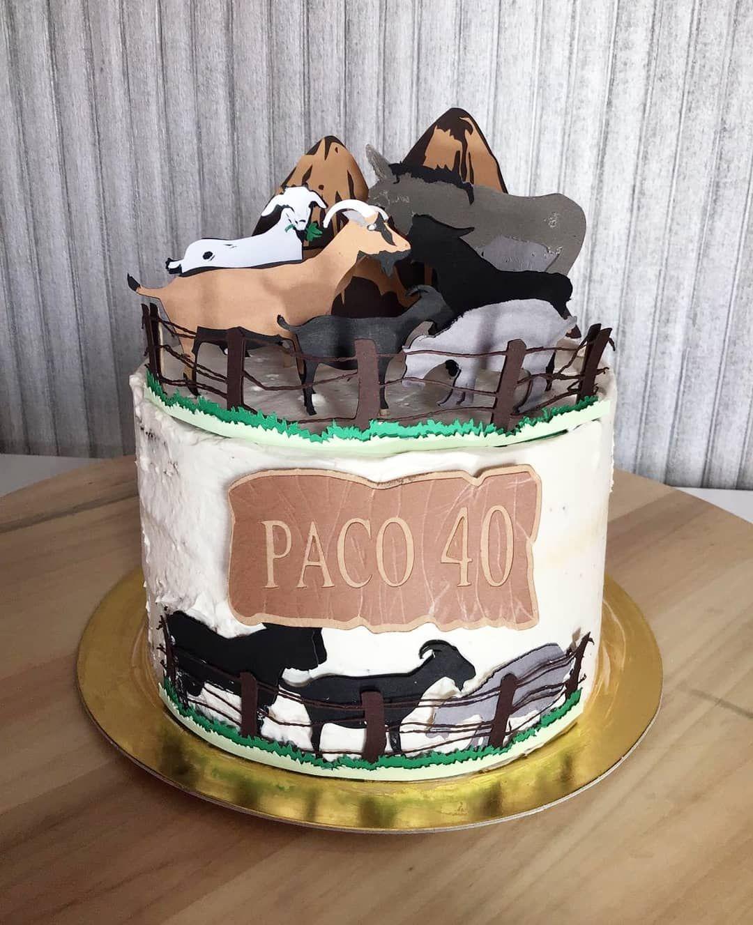 Cake Topper Caprino Hoy Paco Cumple 40 Anos Las