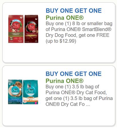 Purina Coupons Bogo Free Purina One Smartblend Dry Dog Food Up