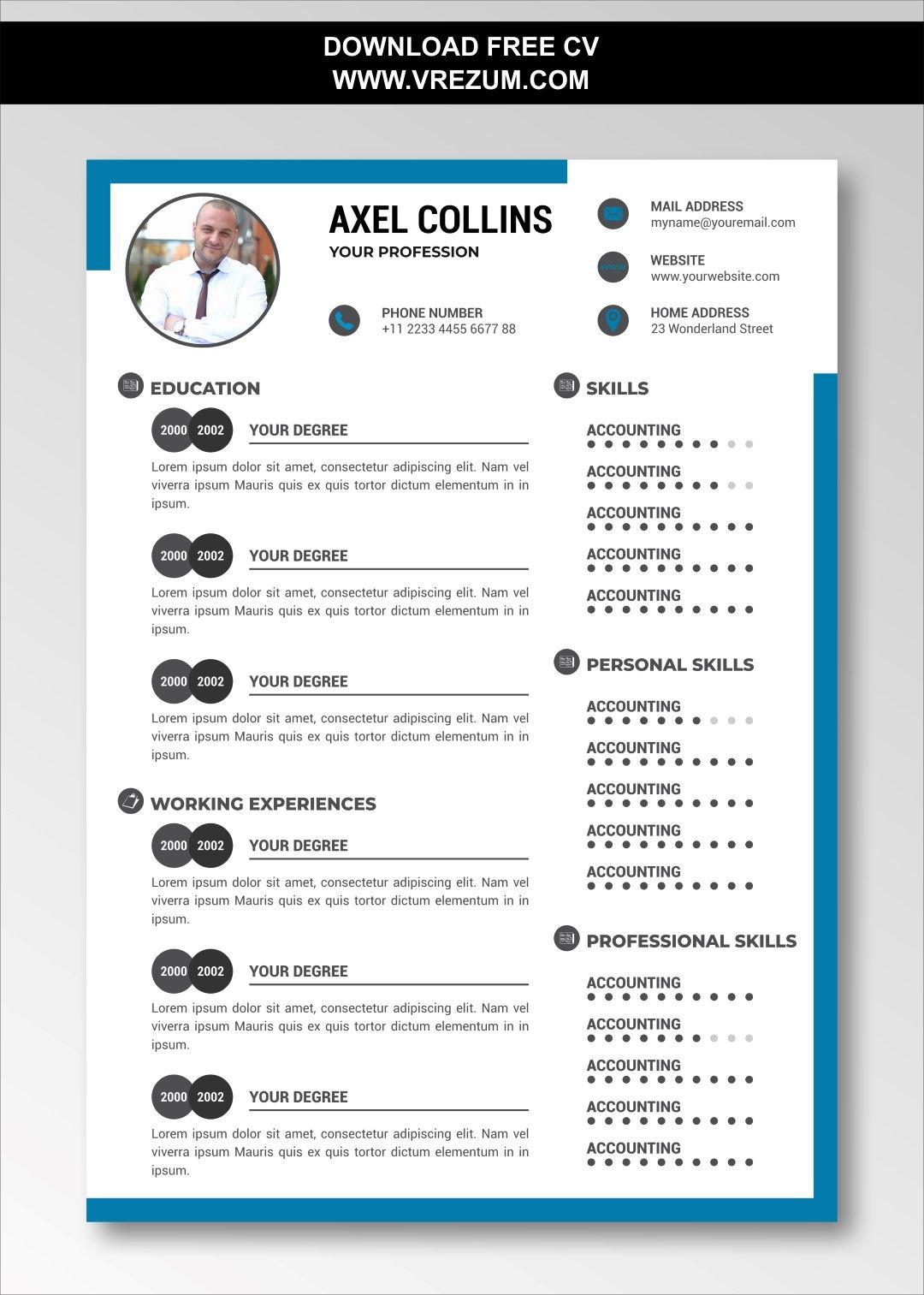 Editable free cv templates for bank teller in 2020