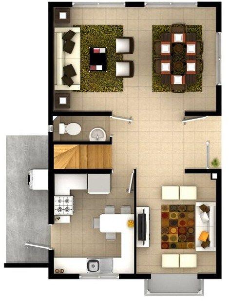 Construir casa de dos plantas de 6 x 15 house - Construir casas en 3d ...
