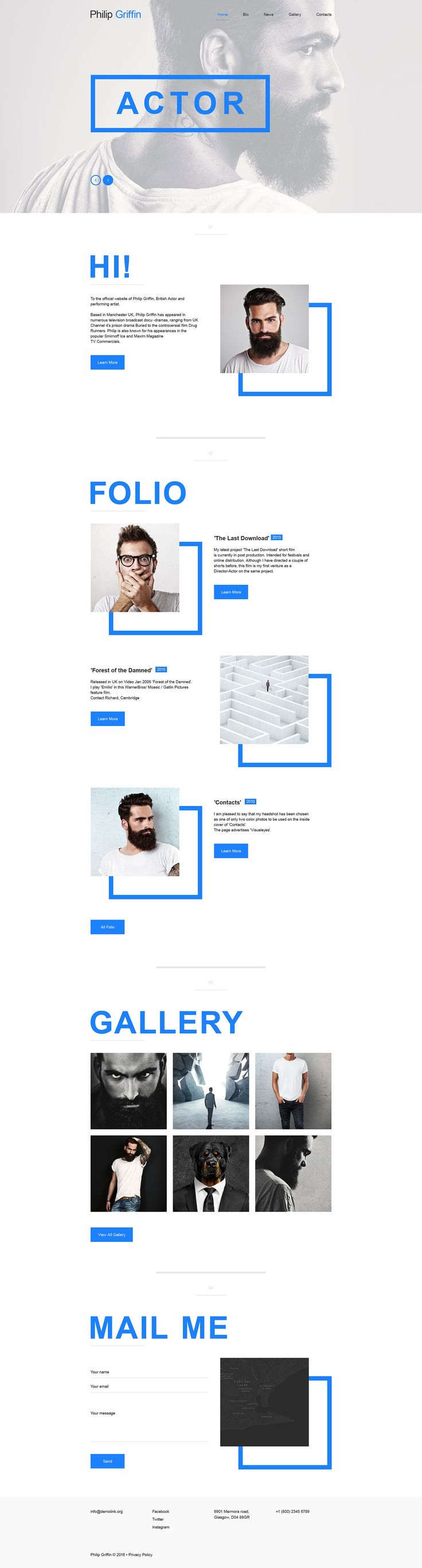 Personal Page Muse Template 57719 Web Layout Design Professional Website Design Web Design Inspiration
