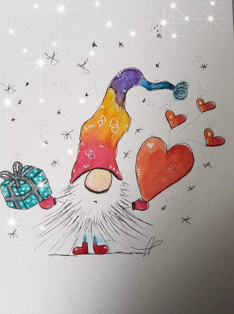 Pin Von Susan Johnston Auf Christmas Cards Weihnachten Zeichnung