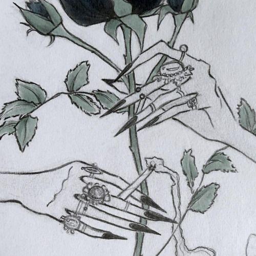 ☁️ Issa Grimm #smoking #gaudy #roseart