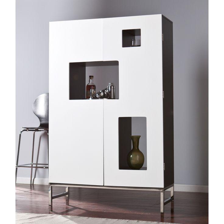 Modern white bar cabinet design for the modern living room | www ...