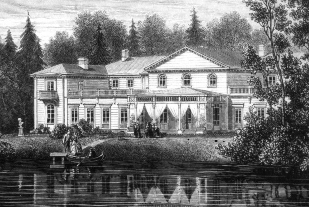 Palais Constantin - Pavlovsk - Construit en 1792 par Giaccomo Quarenghi à Tsarskoie Selo, il est démonté et reconstruit en 1799 par Vincenzo Brenna à Pavlovsk - Détruit.