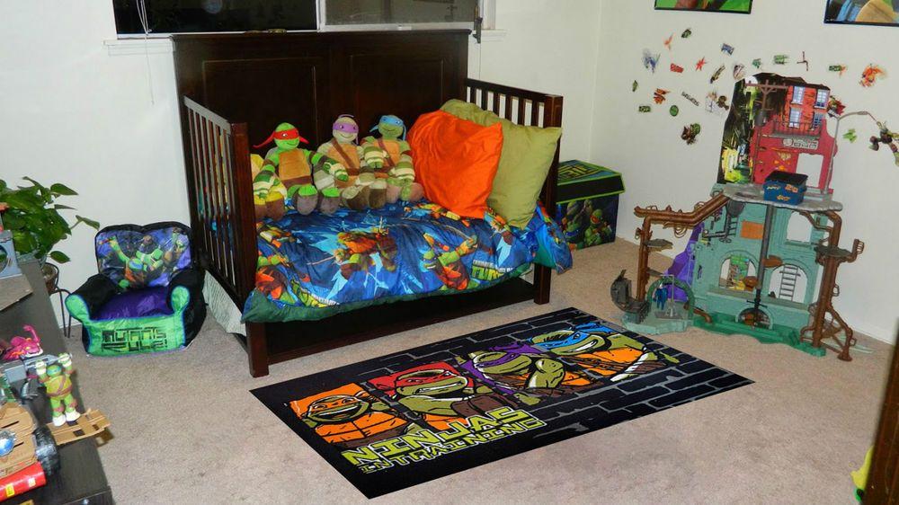 new ninja turtle kids children rugs carpet in 100cm x 150cm free