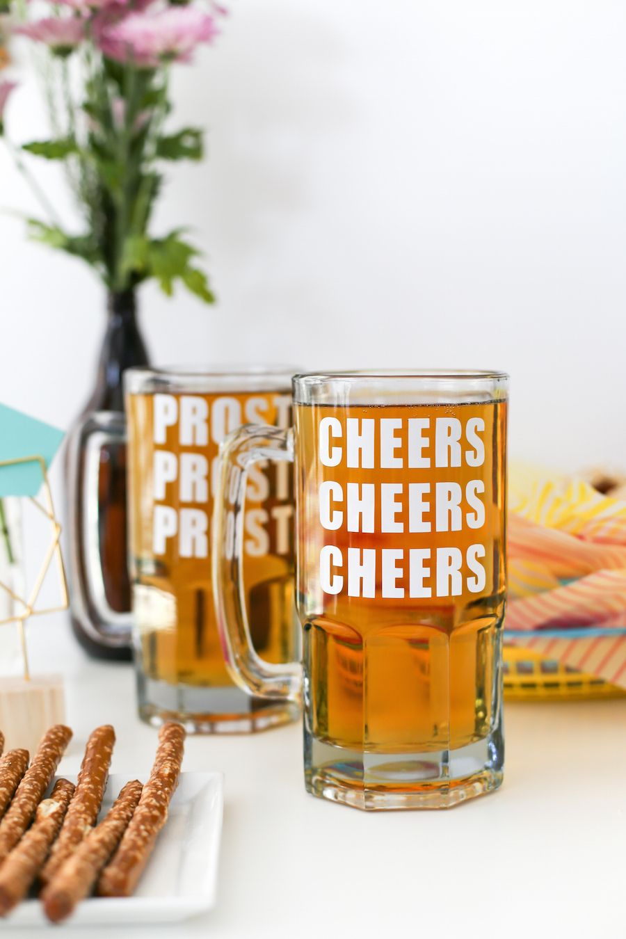 Oktoberfest Pretzel Shaped Donuts And Beer Party Salty Canary With Images Beer Party Oktoberfest Pretzel Shape