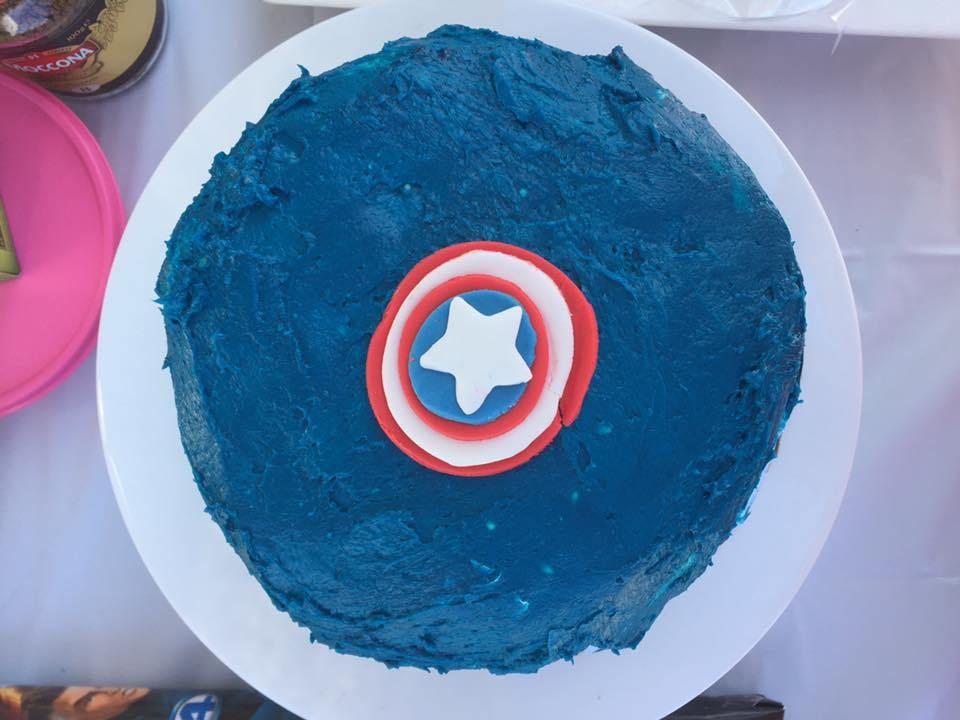 Captain America Cake Smash 1st Birthday Superhero Theme Avengers