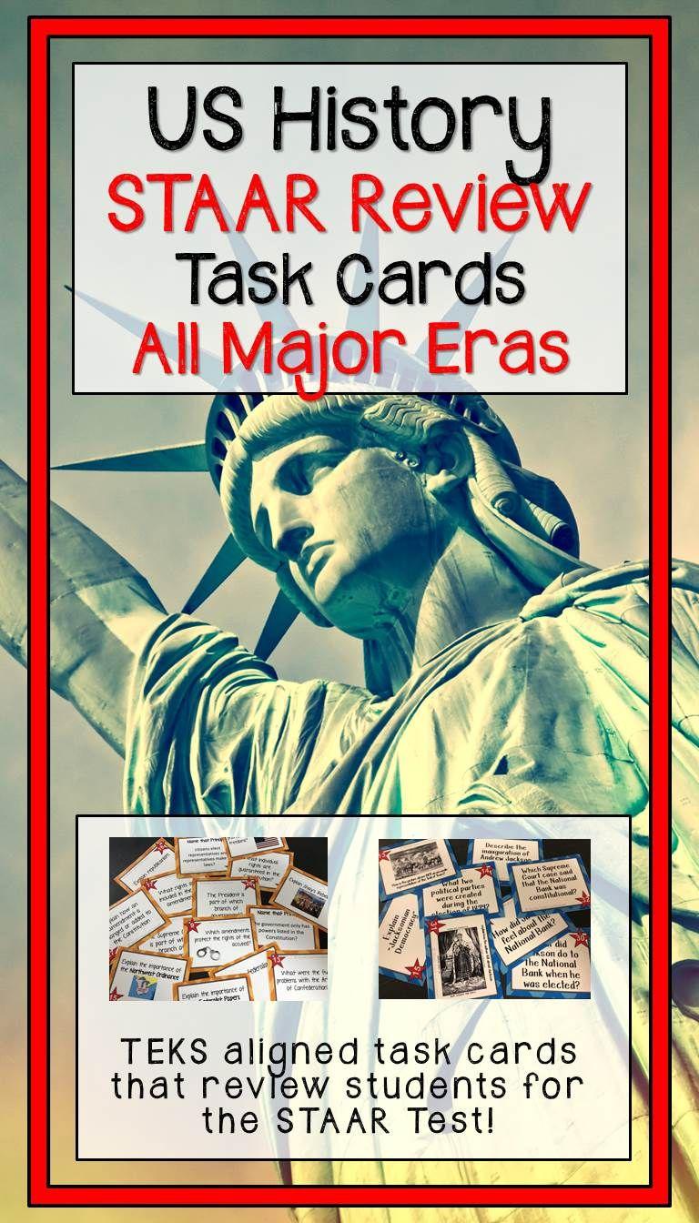 Us History Staar Task Card Review Bundle Task Cards Task Cards