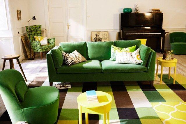 Green Sofa | Green sofa, Living rooms and Living room ideas