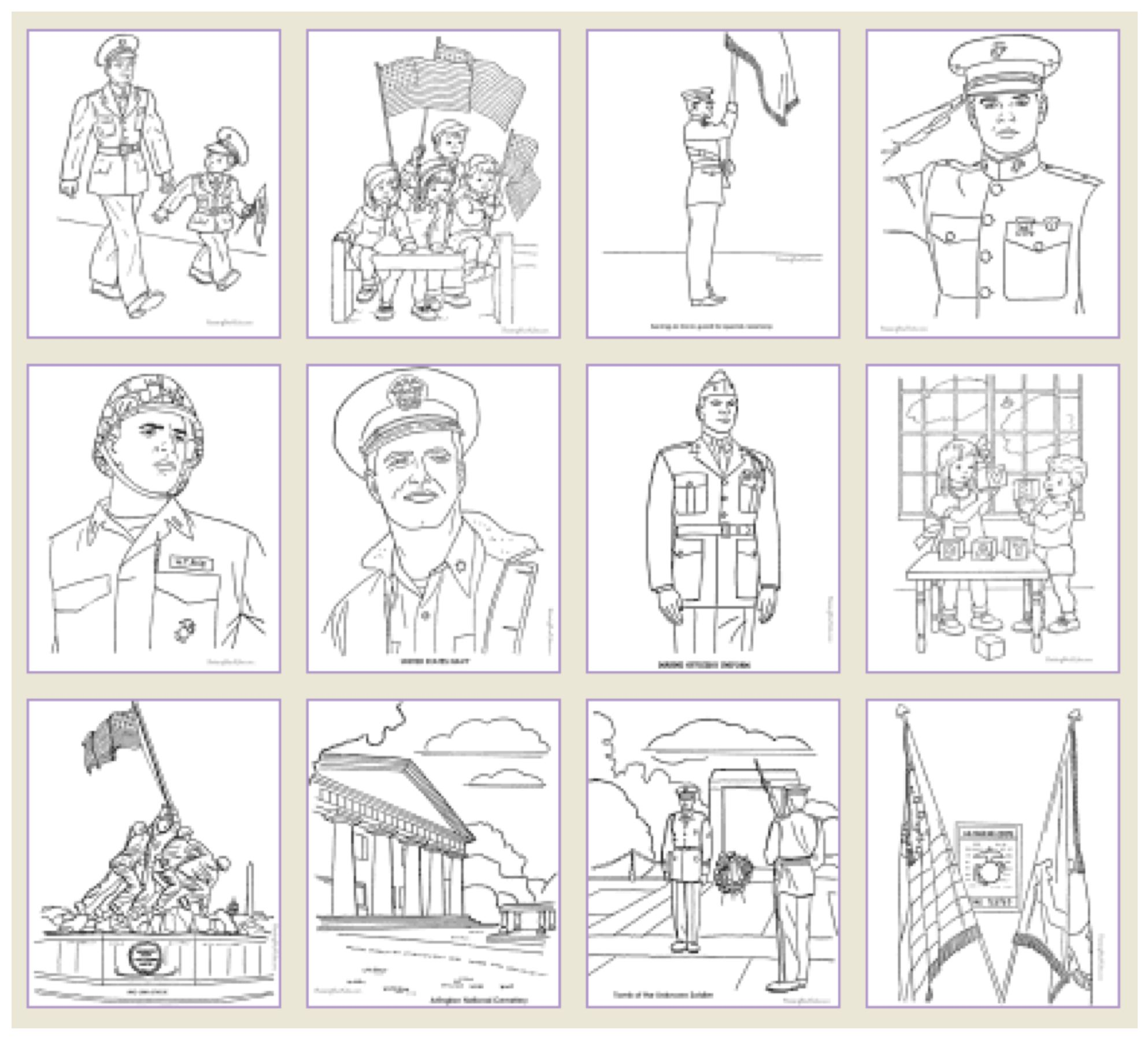Veterans Day Printable Games | Veterans day coloring page ...