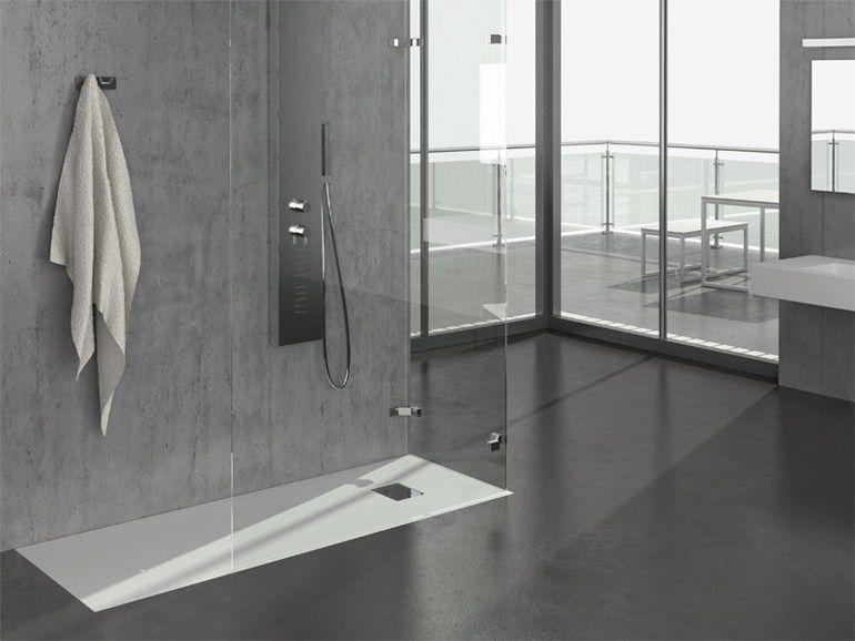 Stile touch piatto doccia filo pavimento rettangolare in - Piatto doccia a filo ...