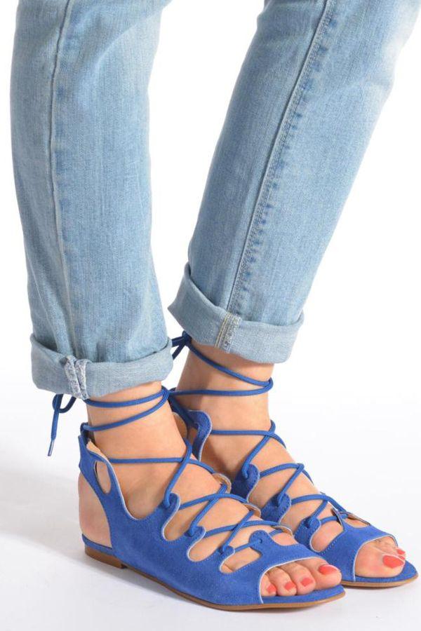 Gilize - Sandales Pour Femmes / Bleu Rose Géorgie CwJIZ