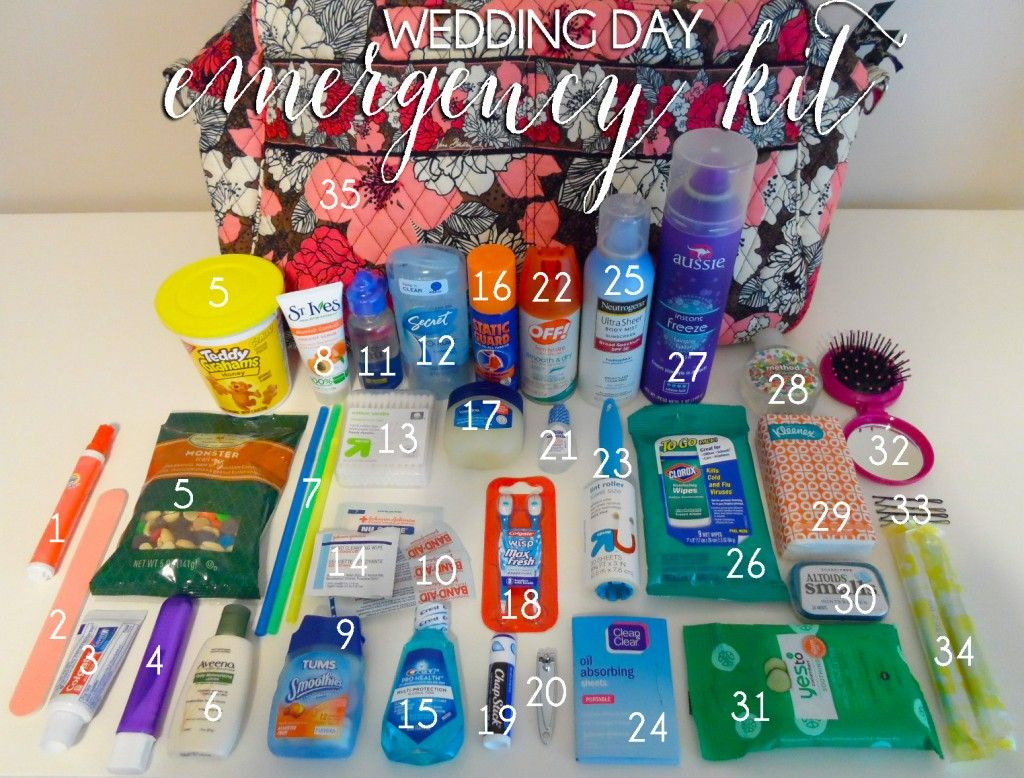 What a wedding planner packs in her wedding day emergency kit! {Even perfectly planned weddings have hiccups- it's always best to be prepared!} Image and blog post by Lauren Heim Weddings + Events.