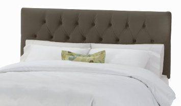 Amazon.com: Skyline Furniture Park Avenue Queen Tufted Headboard Upholstered in Velvet Pewter: Furniture & Decor
