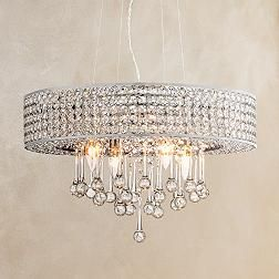 Adaline Chrome Crystal 19 1 4 Inch W Pendant Light Eurostylelighting