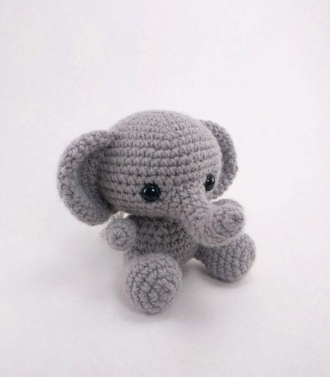 PATTERN: Ellis the Elephant - crochet elephant pattern - amigurumi elephant pattern - English, German, Portuguese - PDF crochet pattern #crochetelephantpattern PATTERN: Crochet elephant pattern  amigurumi elephant pattern #crochetelephantpattern