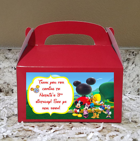 8 Minnie Mouse Clubhouse Food Boxes Carry Handbag Meal Box Birthday Party