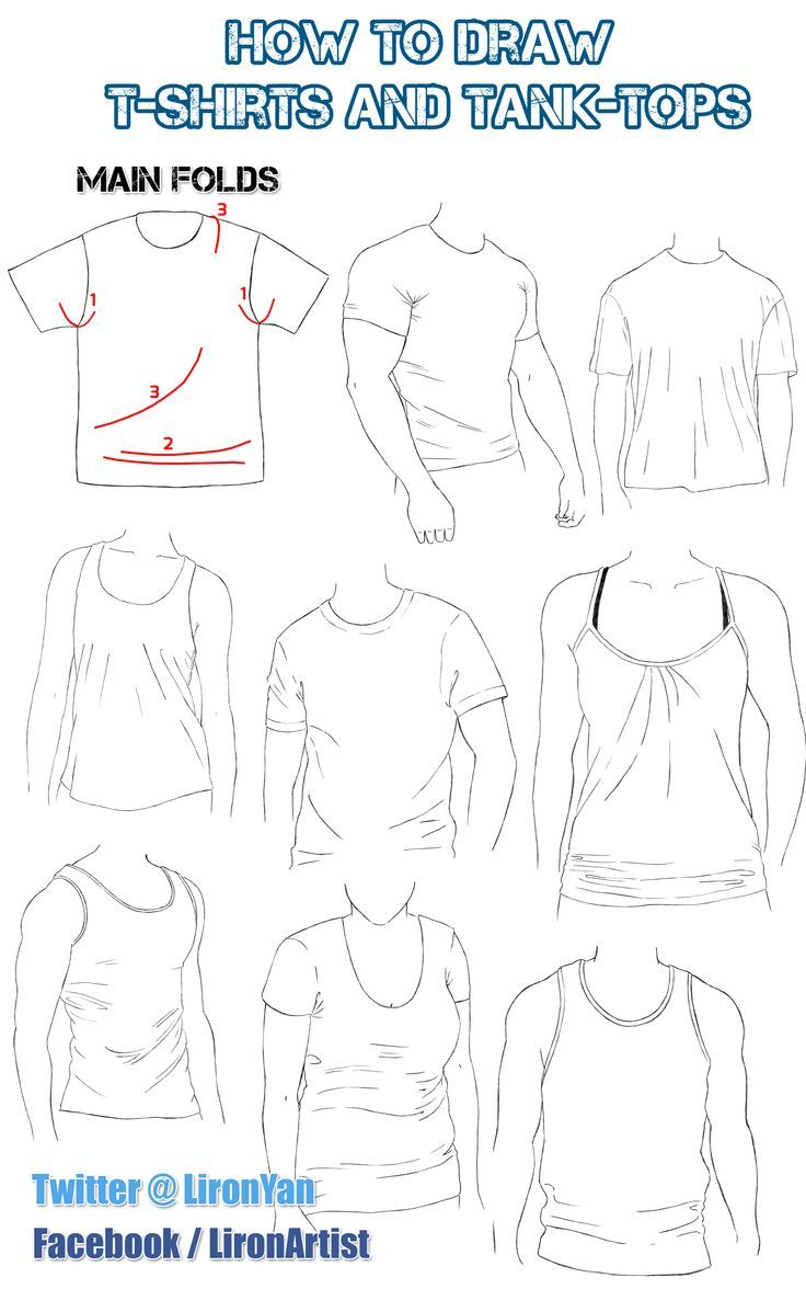 How To Draw Folds And Clothes: Shirt  Liron Yanconsky  Google Search