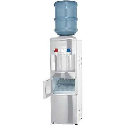 Water Cooler Dispenser Ice Maker Drinking Office Home White Stainless Steel Body Water Coolers Ice Maker Gallon Water Jug