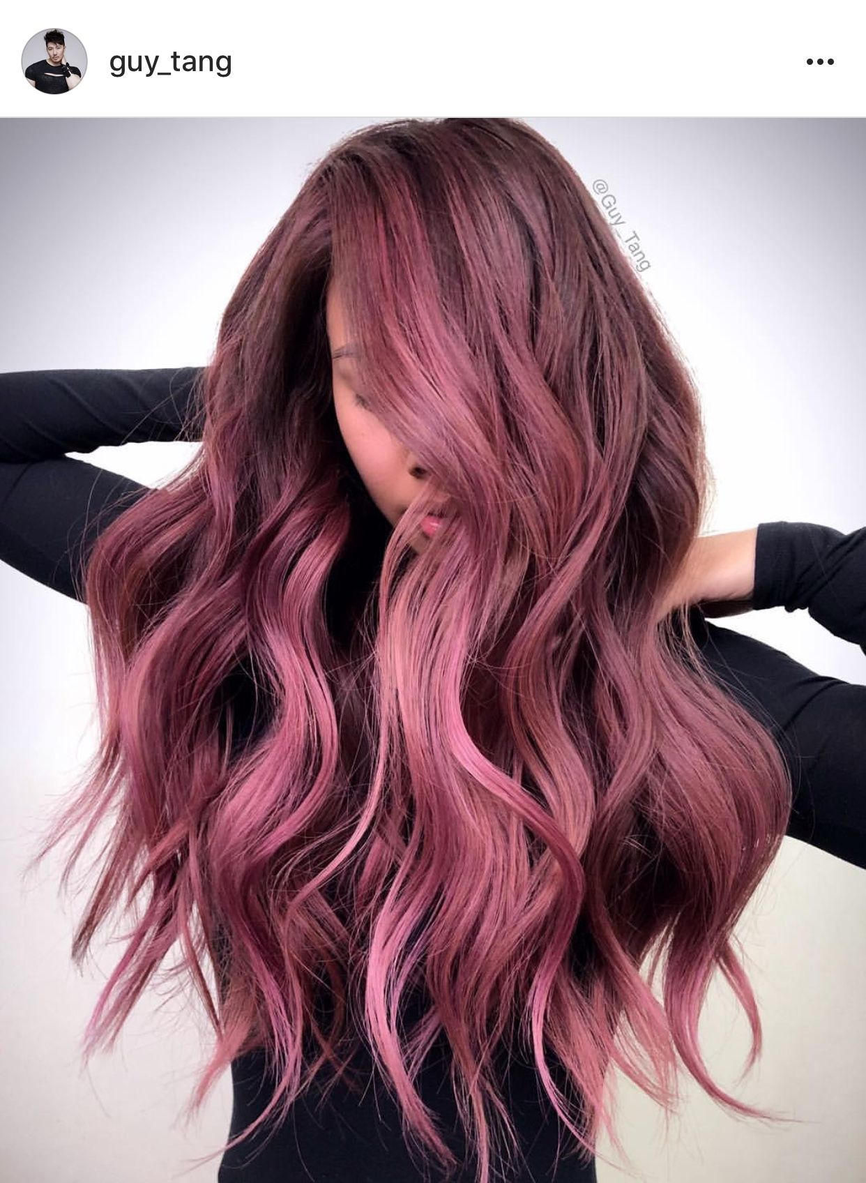 This Dark Rose Hair Shade Is Stunning Hair Styles Hair Color Pink Hair