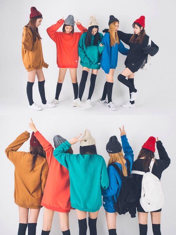Korean Fashion Knee High Socks Black Sweater School Gaya Model Pakaian Korea Model Pakaian Model Baju Wanita