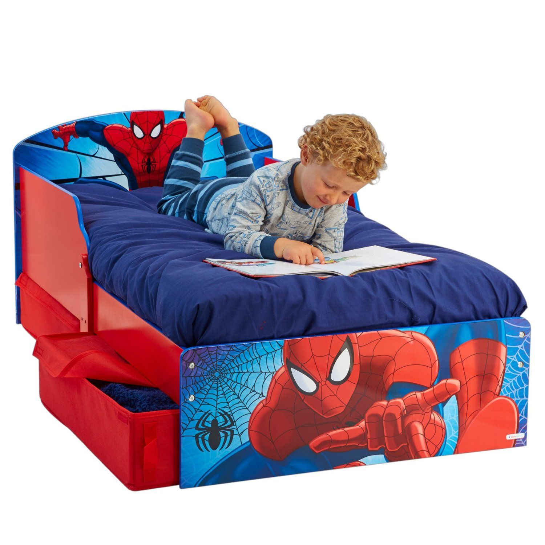 Cama Spiderman Con Cajones 516spa Incluye Colch 243 N Mmm