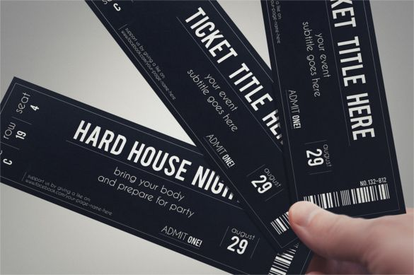 Ticket Template u2013 91+ Free Word, Excel, PDF, PSD, EPS Formats - prom ticket template