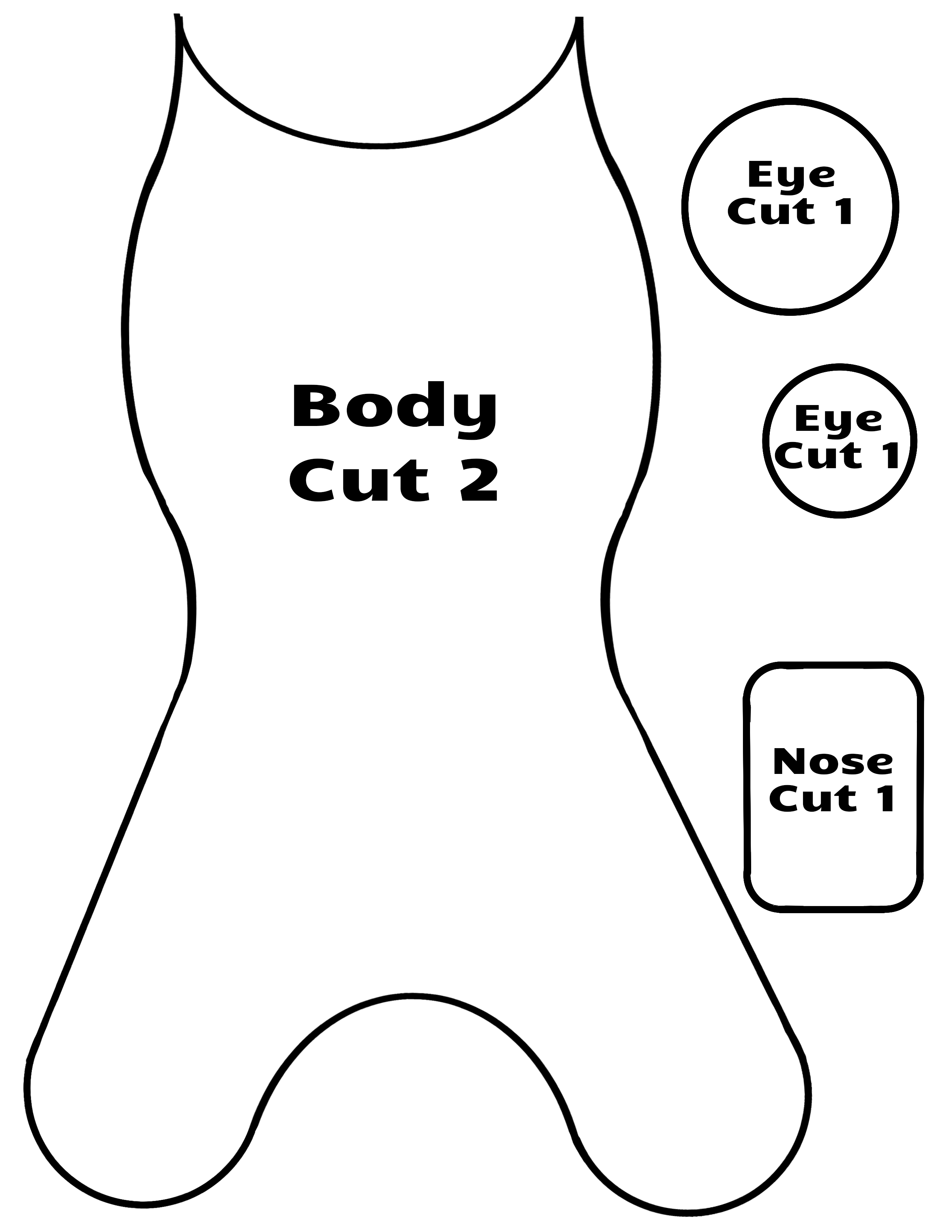 Easy Printable Dog Toy Pattern For Homemade Dog Toys To