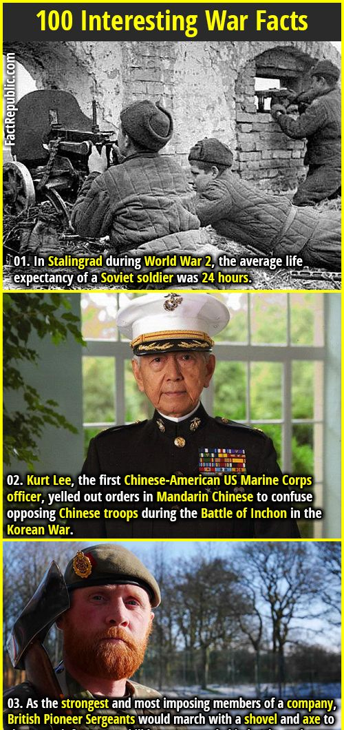 100 Interesting War Facts #historyfacts