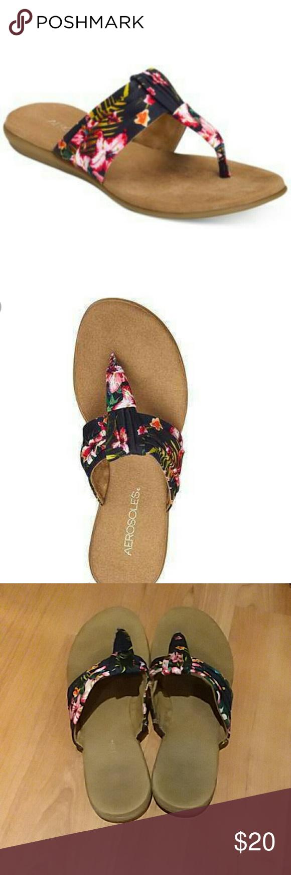 ec033ad943589a Aerosoles Floral Thong Sandals Aerosoles Floral Thong Sandals size 9. It s  a bit worn out