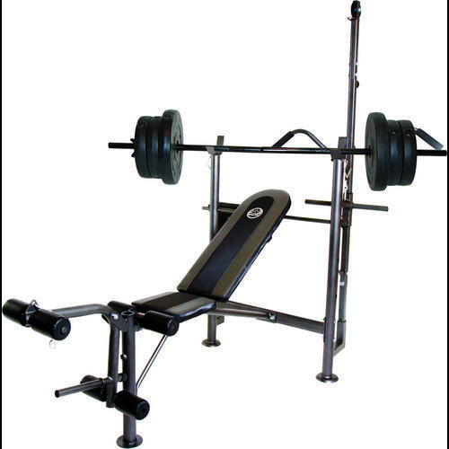 Cap barbell combo bench with 80 lb weight set fitness equipment weight benches at academy Cap strength weight bench
