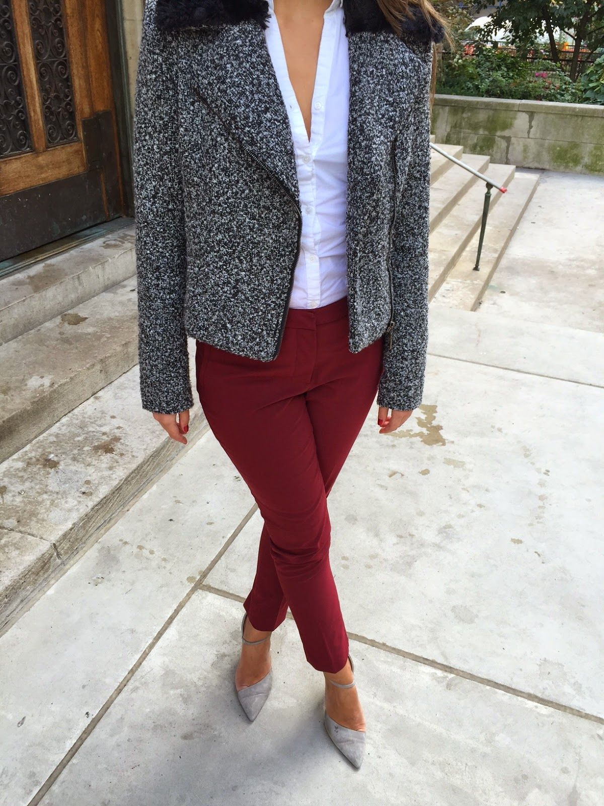 Bordeaux Maroon Pants For A Day In The Office Miss Corporate Maroon Pants Clothes My Style