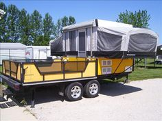 2006 Fleetwood Scorpion Toy Hauler from Starling Travel Itu0027s different because the tent is sideways & 2006 Fleetwood Scorpion Toy Hauler from Starling Travel: Itu0027s ...