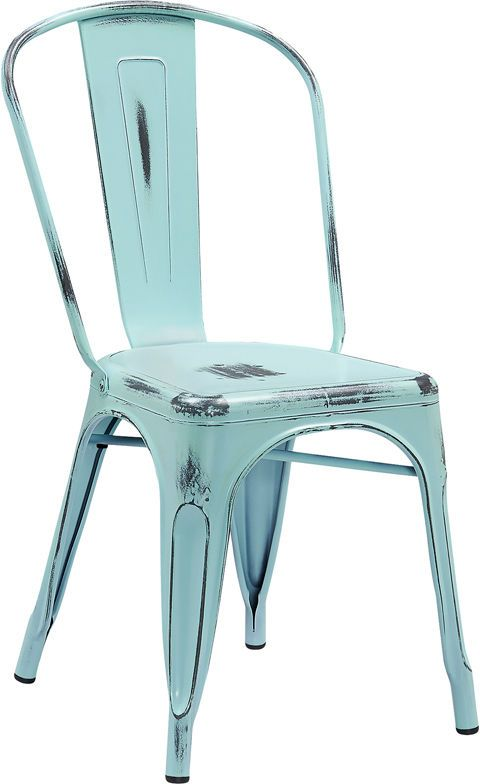Distressed Metal Chair Farmhouse Coastal Indoor/outdoor Industrial 9 COLORS  | Home U0026 Garden, Furniture, Bar Stools | EBay!