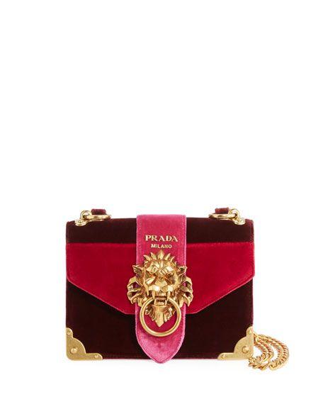 baa2fe743b6 PRADA Cahier Velvet Trunk Shoulder Bag, Red.  prada  bags  shoulder bags   lining  velvet