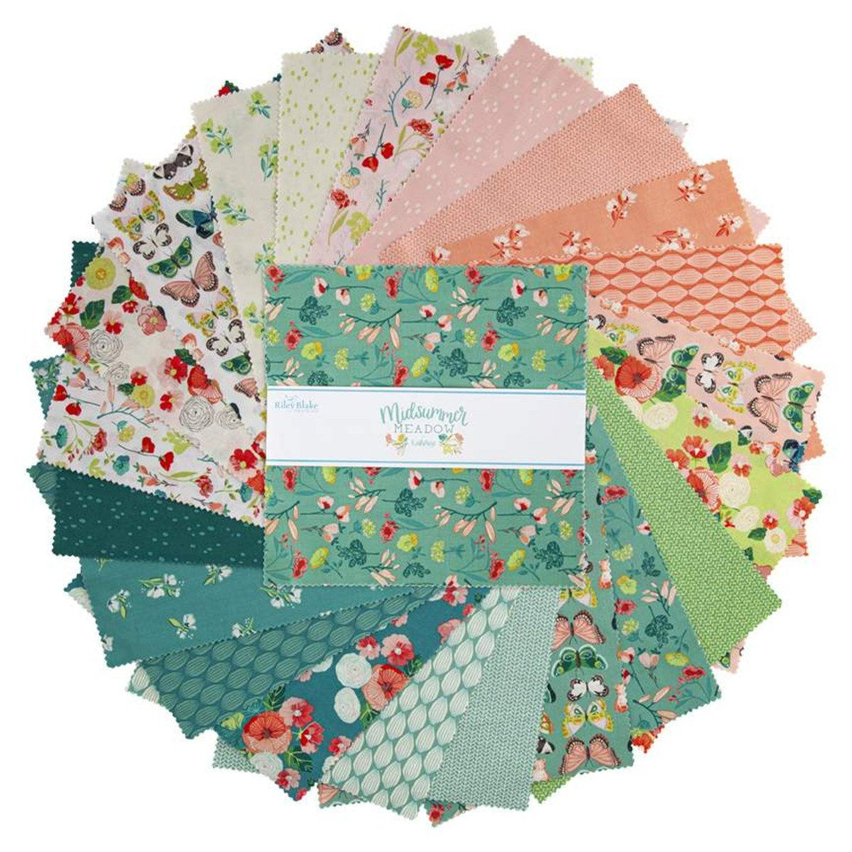 In The Meadow~layer Cake  42 10/'/' Cotton Squares  by Riley Blake