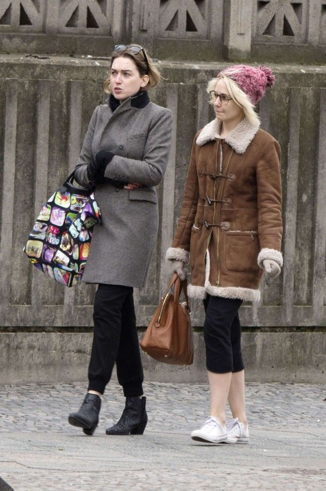 Jamie Clayton and Tuppence Middleton out in Berlin