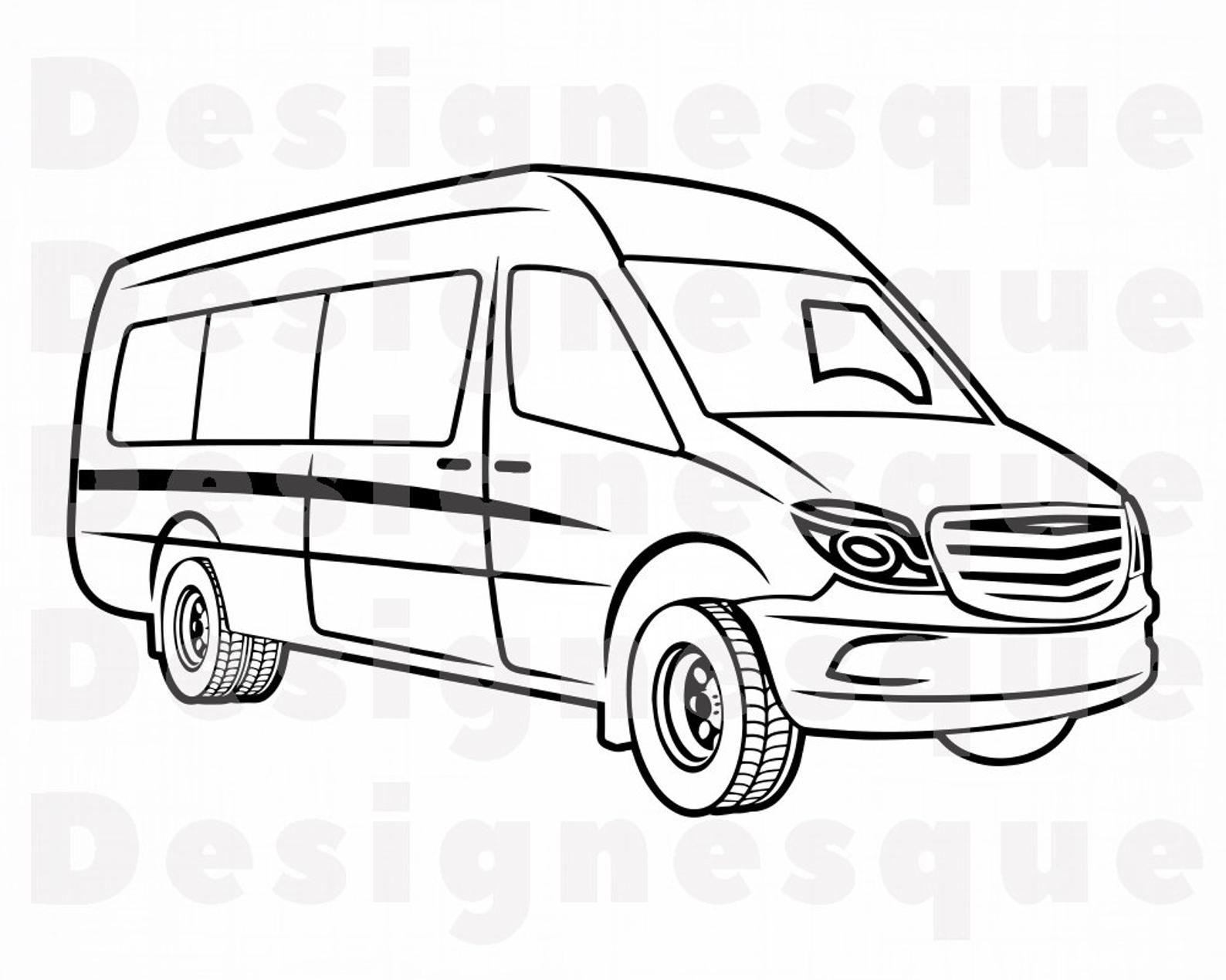 Van Outline Svg Van Svg Car Svg Auto Svg Vehicle Van Etsy In 2021 Van Svg Van Drawing