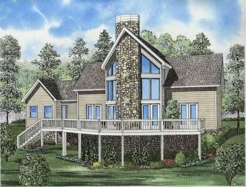House Plan 110-00629 - Northwest Plan: 1,408 Square Feet, 2 Bedrooms, 2 Bathrooms