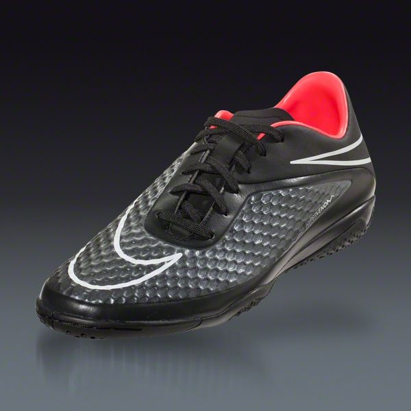 Nike Hypervenom Phelon IC - Stealth Pack - Black/Black Indoor Soccer Shoes  | SOCCER