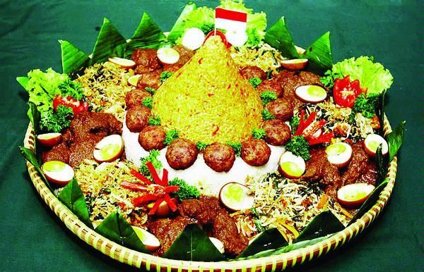 Nasi Tumpeng A Traditional Sacred Javanese Food B Food Food Indonesian Food