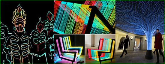 EL (Electroluminescent) wire is perfect for Modern Art, Fashion ...