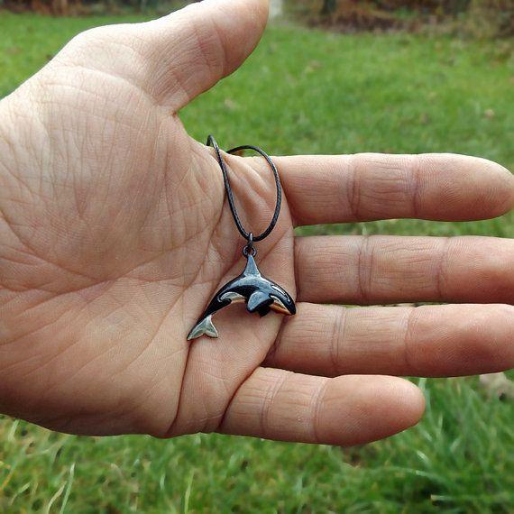 Orca or killer whale necklace silver pendant jewelry wants orca or killer whale necklace silver pendant aloadofball Choice Image