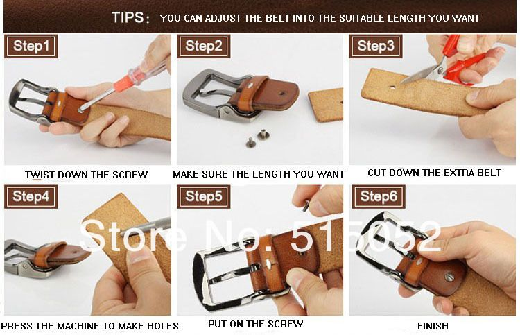 Adjust Belt Length Luxury Belts Leather Men Mens Belts