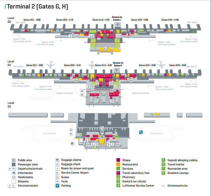 Munich Airport Reviews Terminal Map LAI Pinterest Munich